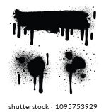 spray paint abstract vector... | Shutterstock .eps vector #1095753929
