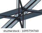 abstract modern architecture...   Shutterstock . vector #1095754760