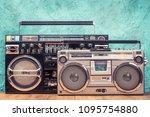 retro designed ghetto blaster... | Shutterstock . vector #1095754880
