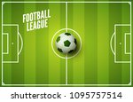 soccer grass field background.... | Shutterstock .eps vector #1095757514