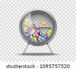 lottery machine with lottery... | Shutterstock .eps vector #1095757520