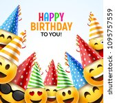 birthday happy smile greeting... | Shutterstock .eps vector #1095757559