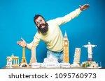 travel  adventure  vacation ... | Shutterstock . vector #1095760973