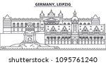 germany  leipzig line skyline... | Shutterstock .eps vector #1095761240