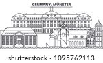 germany  munster line skyline... | Shutterstock .eps vector #1095762113