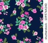 seamless delicate pattern of... | Shutterstock .eps vector #1095764240