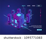 digital smart city concept  big ... | Shutterstock .eps vector #1095771083