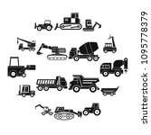 building vehicles icons set.... | Shutterstock .eps vector #1095778379