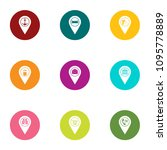 browsing icons set. flat set of ... | Shutterstock .eps vector #1095778889