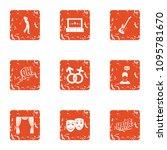 pair entertainment icons set....   Shutterstock .eps vector #1095781670