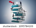 education concept with books... | Shutterstock . vector #1095784103