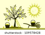 Vector Pear Tree And Hand...