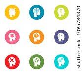 cognition icons set. flat set...   Shutterstock .eps vector #1095784370