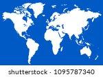 color world map  | Shutterstock .eps vector #1095787340