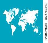 color world map  | Shutterstock .eps vector #1095787343