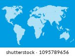 dotted world map | Shutterstock .eps vector #1095789656