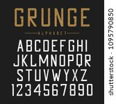 grunge font design. textured... | Shutterstock .eps vector #1095790850