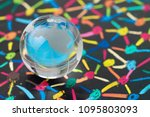 globalization  social network... | Shutterstock . vector #1095803093