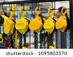 industrial chain hoist for... | Shutterstock . vector #1095803570