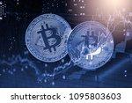 modern way of exchange. bitcoin ... | Shutterstock . vector #1095803603