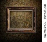 Wooden Frame Over Grunge...