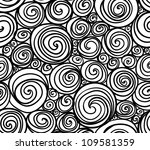seamless doodle abstract swirls ...
