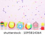 table top view image the kids... | Shutterstock . vector #1095814364