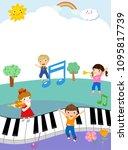 kids and music | Shutterstock .eps vector #1095817739