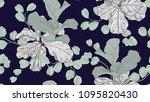floral seamless pattern  green...   Shutterstock .eps vector #1095820430