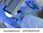 young woman receiving radiation ... | Shutterstock . vector #1095820520