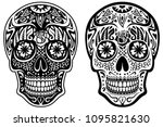 vector illustration of a black... | Shutterstock .eps vector #1095821630