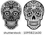 vector illustration of a black... | Shutterstock .eps vector #1095821630