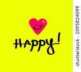"""happy"" text  abstract heart... 