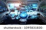cockpit of futuristic... | Shutterstock . vector #1095831830