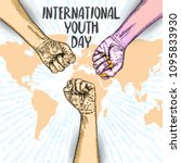 international youth day design... | Shutterstock .eps vector #1095833930