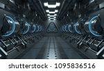 blue light corridors interior... | Shutterstock . vector #1095836516