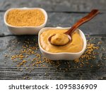 two bowls and spoon with seeds... | Shutterstock . vector #1095836909