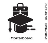 mortarboard icon isolated on... | Shutterstock .eps vector #1095841340
