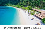 aerial view of natural clear... | Shutterstock . vector #1095842183
