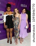 Small photo of New York, NY - May 21, 2018: Phoebe Robinson, Gillian Jacobs, Vanessa Bayer attend screening of Netflix film Ibiza at AMC Loews Lincoln Center