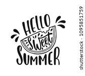 hello sweet summer.... | Shutterstock .eps vector #1095851759