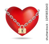 lock the heart symbol.isolated... | Shutterstock .eps vector #1095853643