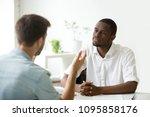 african american employer... | Shutterstock . vector #1095858176