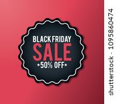 black friday sales deals  with... | Shutterstock .eps vector #1095860474