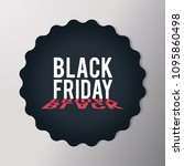 black friday sales deals  with... | Shutterstock .eps vector #1095860498