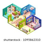apartments cross section vector ... | Shutterstock .eps vector #1095862310