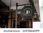 signage outside a restaurant... | Shutterstock . vector #1095866099