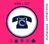 retro telephone symbol | Shutterstock .eps vector #1095873920