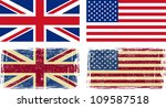 British And American Flags....