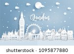 winter and christmas in london... | Shutterstock .eps vector #1095877880